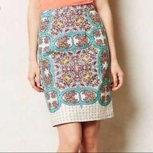 Anthropologie | Maeve Mayola Linen Pencil Skirt